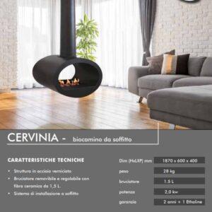 Τζάκι βιοαιθανόλης οροφής - CERVINIA etzaki.gr FL